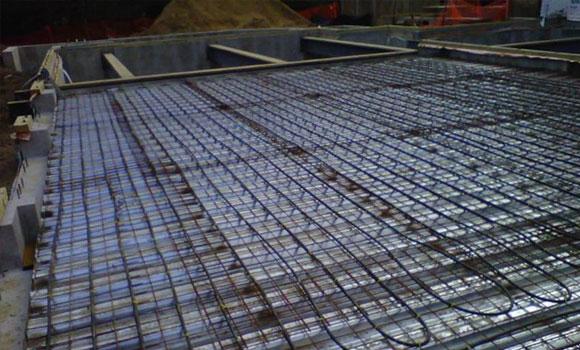 heating installation radiant